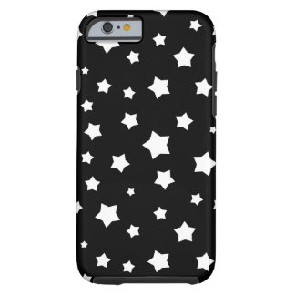 Black and white stars pattern tough iPhone 6 case