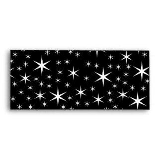 Black and White Stars Pattern. Envelope