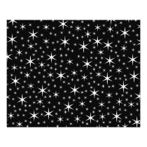 Black and White Stars Pattern. Flyer