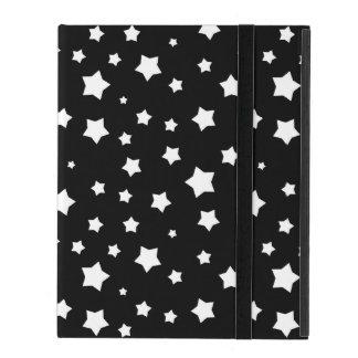 Black and white stars pattern iPad case