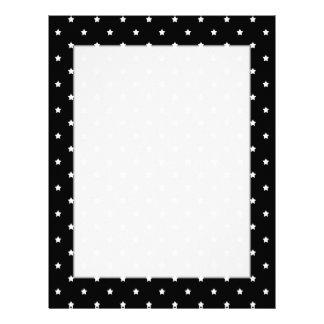 Black and White Stars Pattern. Letterhead Template