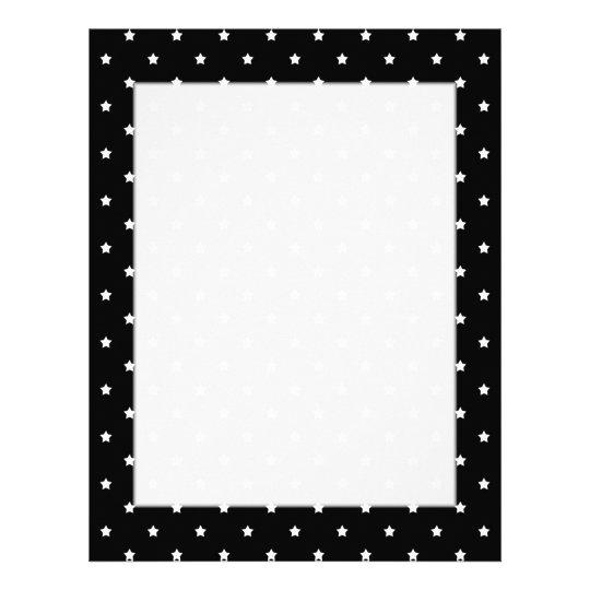 Black and White Stars Pattern. Letterhead