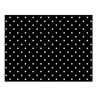 Black and White Stars Pattern. Postcard