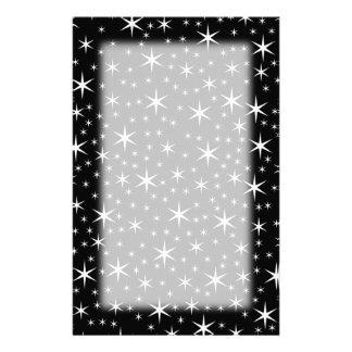 Black and White Stars Pattern. Custom Stationery