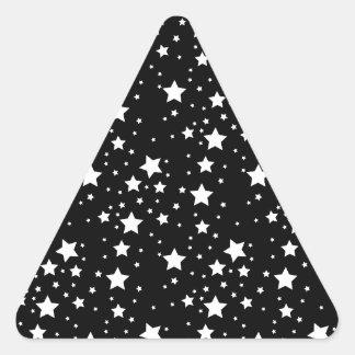 Black and White Stars Triangle Sticker