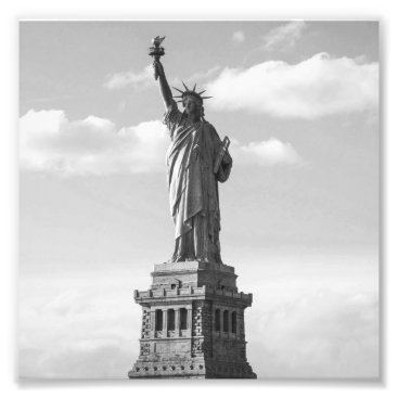 USA Themed Black and White Statue of Liberty Photo Print