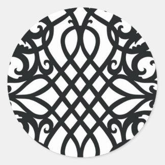 Black and White Sticker Pattern
