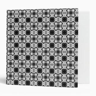 Black and White Strange Round Check Pattern Binder