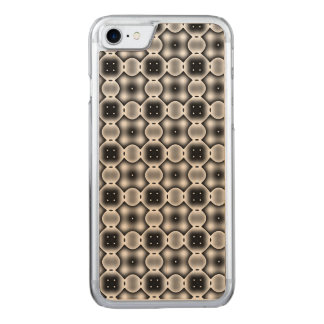 Black and White Strange Round Check Pattern Carved iPhone 7 Case
