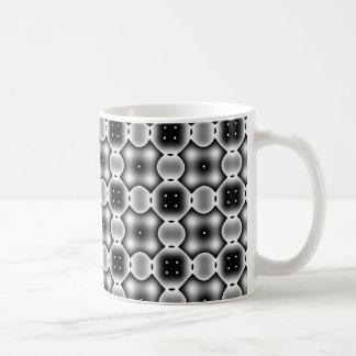 Black and White Strange Round Check Pattern Coffee Mug