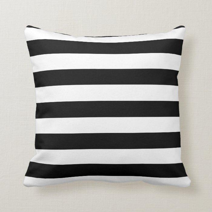 Black And White Strip Throw Pillow Zazzle