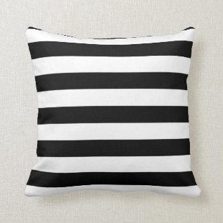 Black and White Strip Throw Pillow