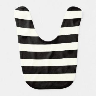 Black and White Stripe Bib