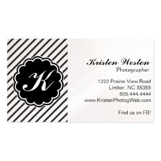 Black and White Stripe Business Card