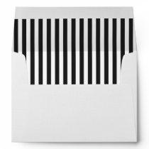 Black and White Stripe Envelope liner