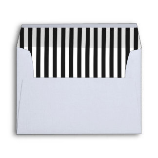 Black and White Stripe Envelope liner