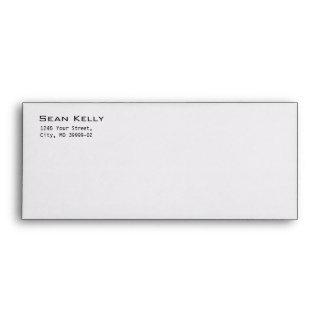 Black and white Stripe Envelope Template