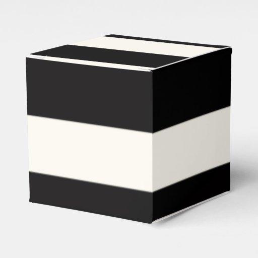 Black Treat Favor Boxes : Black and white stripe favor boxes zazzle