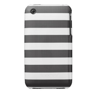 Black and White Stripe iPhone 3 Case-Mate Case-Mate iPhone 3 Case