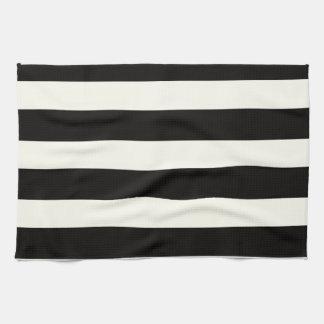 Horizontal Black Stripes Kitchen Towels Zazzle