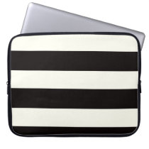 Black and White Stripe Laptop Sleeve