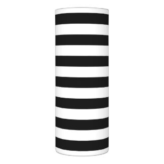 Black and White Stripe Pattern Flameless Candle