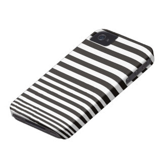 Black and white stripe pattern ID iPhone 4 4S case