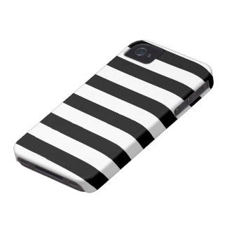 Black and White Stripe Pattern iPhone 4 Case-Mate Case