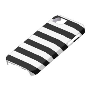 Black and White Stripe Pattern iPhone SE/5/5s Case