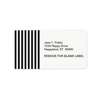 Black and White Stripe Pattern Personalized Address Labels