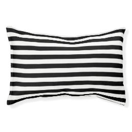 Black and White Stripe Pattern Pet Bed
