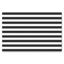 Black and White Stripe Pattern Tissue Paper