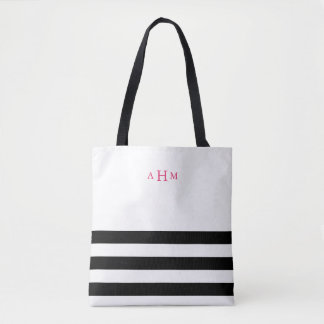 Black And White Stripes Tote Bags | Zazzle