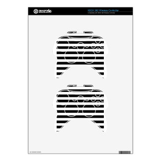 Black and White Stripe   Striped Design Xbox 360 Controller Decal