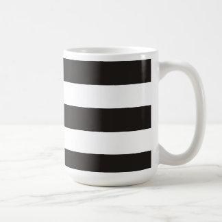 Black and white stripe striped geo color block mug