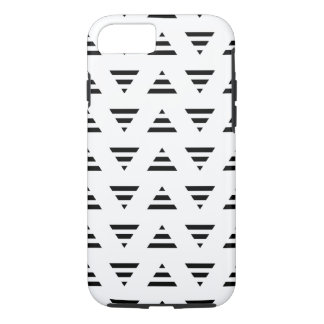Black and White Stripe Triangles Pattern. iPhone 7 Case