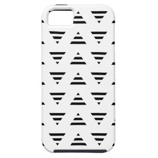Black and White Stripe Triangles Pattern. iPhone SE/5/5s Case