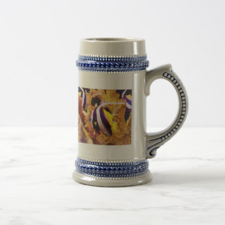 Black and White Striped Angelfish Beer Stein