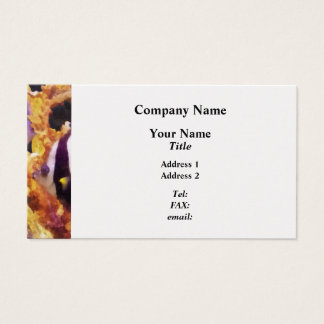 Black and White Striped Angelfish Business Card