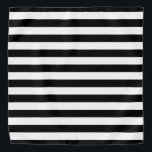 "Black and White Striped Bandana<br><div class=""desc"">This cute bandana is the perfect accessory for you,  your child or your favorite dog.</div>"
