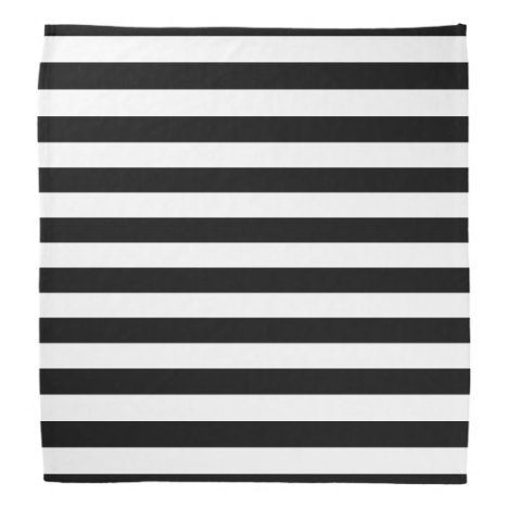 Black and White Striped Bandana