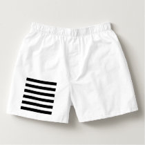 Black and White Striped Boxers