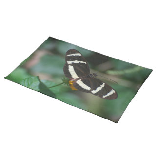 Black and White Striped Butterfly Placemat