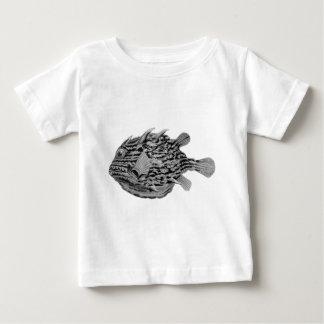Black and White Striped Cowfish Baby T-Shirt