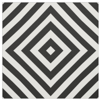 black and white striped fabric