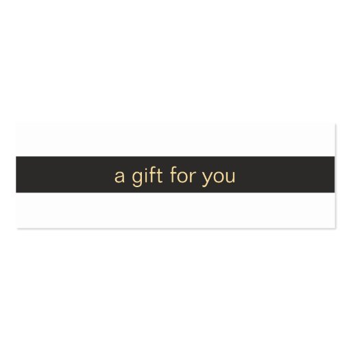 Black and White Striped Gift Card Business Card