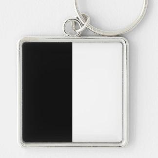 Black and White Striped Key Chain