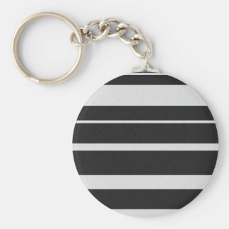 Black and White Striped Keychain
