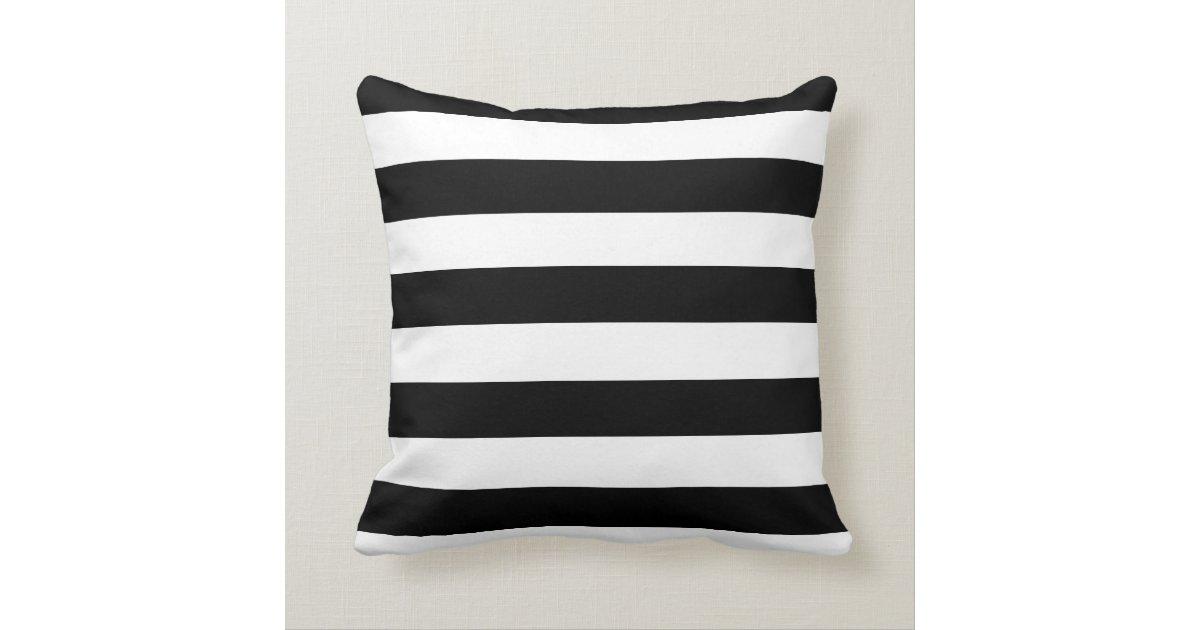 Black And White Striped Throw Pillows : Black and White Striped Mint Heart Throw Pillow Zazzle