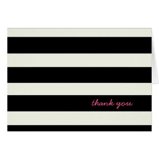 Black and White Striped Note Card